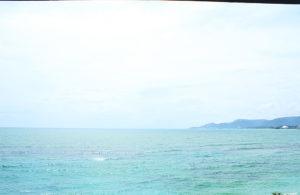 ホテルからの眺め 海が目の前に広がります