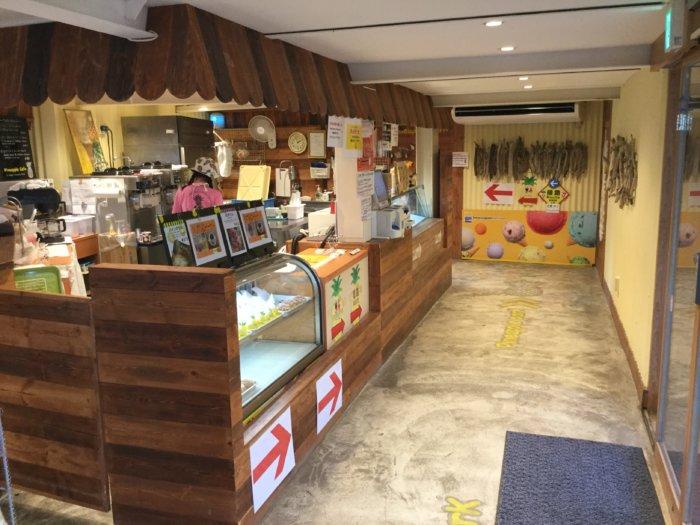 ナゴパイナップルパーク内カフェ