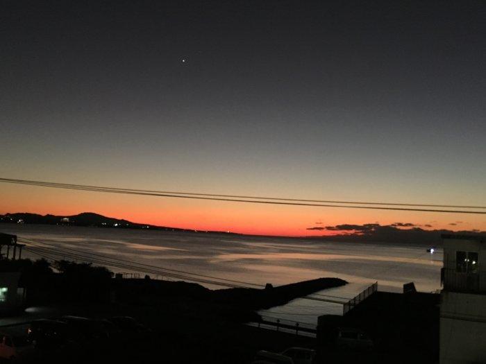 名護の夕陽